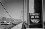 Sign on Golden Gate Bridge (105100-8)