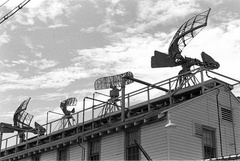 Radar Antennas on roof of Electronic School (100030-7)
