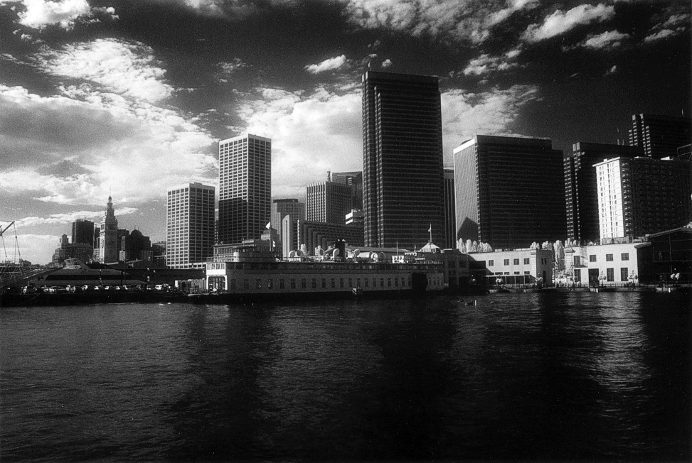 Skyline from Pier 5 (infrared) (105040-25)